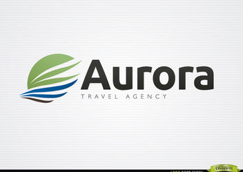 Aurora wing travel agency logo - vector gratuit #181415