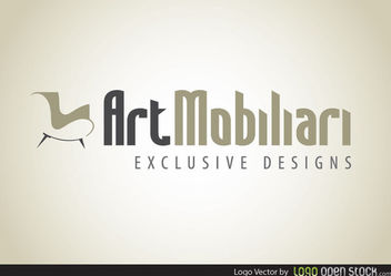 Modern Furniture Logo - vector gratuit #181475