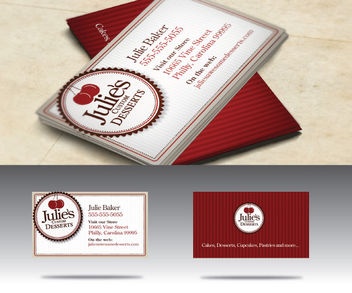 Vintage Baker Shop Business Card - бесплатный vector #181515