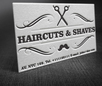 Vintage Barber Shop Business Card - Free vector #181535