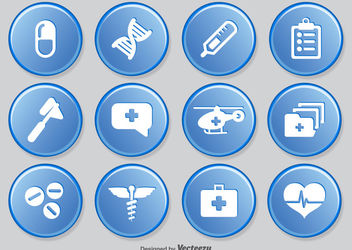 Medical Icon Circles Pack - vector gratuit #181575