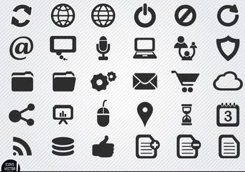 Simple internet icons set - Free vector #181725