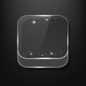 Fluorescent Shiny Glass App Icon - бесплатный vector #181755