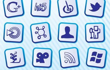 Free Social Media Icons - vector gratuit #181795