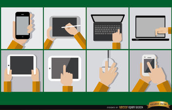 8 Mobile computer devices - vector gratuit #181845