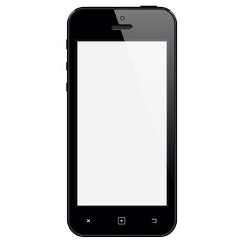 Glossy Black iPhone with Blank Display - vector gratuit #181865
