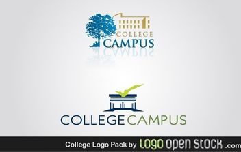 College Logo Pack - vector gratuit #181935