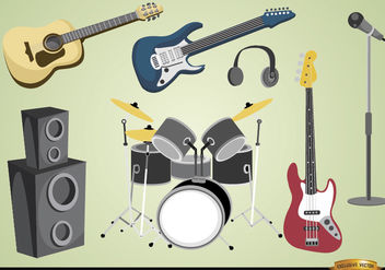 Musical instruments and devices - vector gratuit #182035