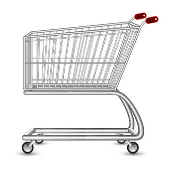 Realistic 3D Shopping Cart - vector gratuit #182115