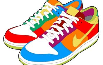 Colorful Sport Shoes - vector gratuit #182175