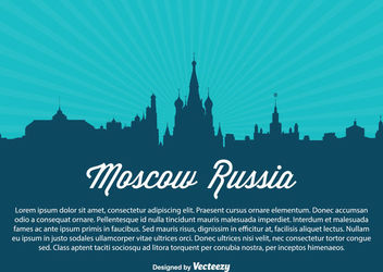 Moscow Russia Skyline Silhouette - Kostenloses vector #182295