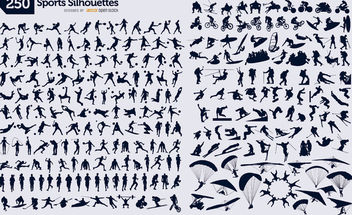 250 sport silhouettes - Free vector #182305
