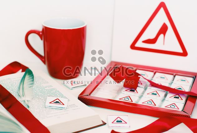 Candies, book and cup of tea - Free image #182705