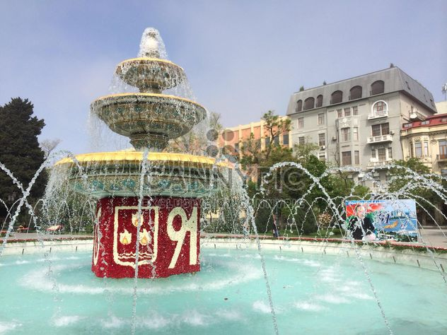 Fountain on square in Baku - Free image #182755