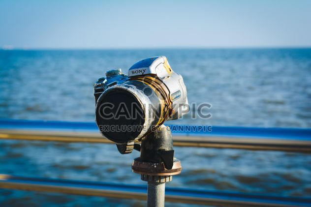 Camera on embankment of sea - Free image #182835