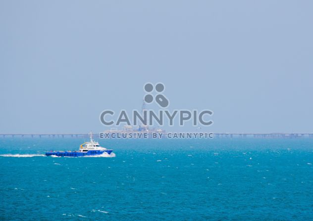 Boat in blue sea - Free image #182845