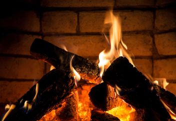 Close-up burning fireplace - image #182905 gratis