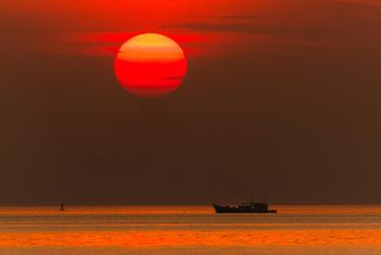 Red sunset sun - image gratuit #183935