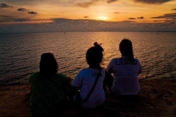 #iloveocean, #sea, #Sunset, #women - image gratuit #184495