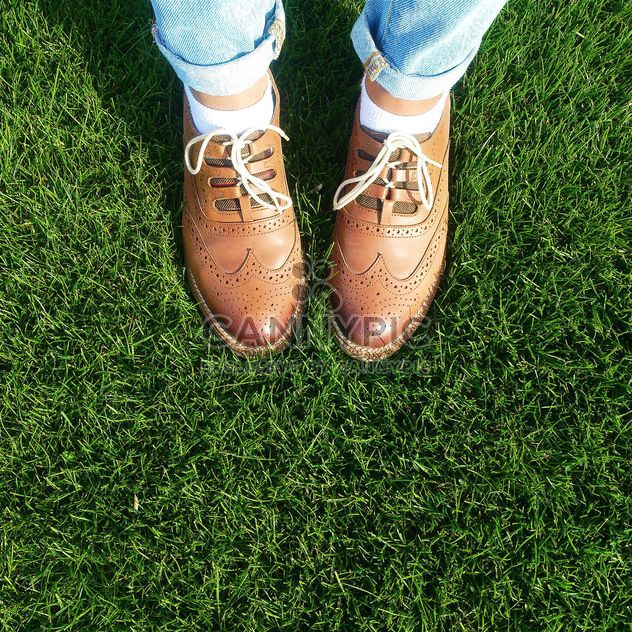Shoes on a grass - Kostenloses image #184575