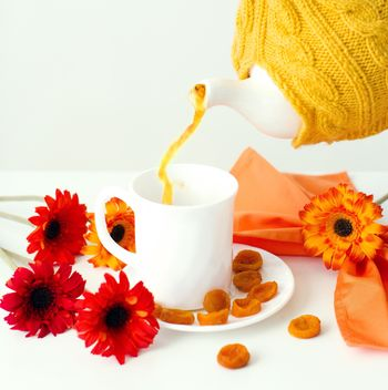 Tea with dried apricots - Free image #185835