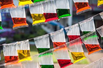 Colored water in plastic packages - бесплатный image #186395