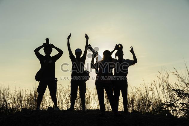 silhouettes of friends - Free image #186475