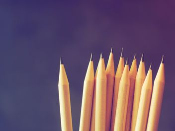 Pencils on blue background - image gratuit #186905