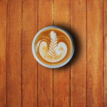 Cup of latte art - Free image #186955