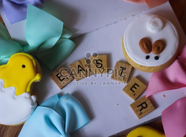 Easter cookies with wooden letters - бесплатный image #187625