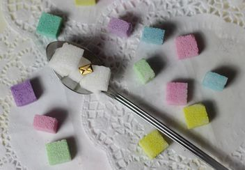 colorful pastel sugar cubes - image #187655 gratis