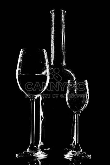 Goblets and bottle - Free image #187735
