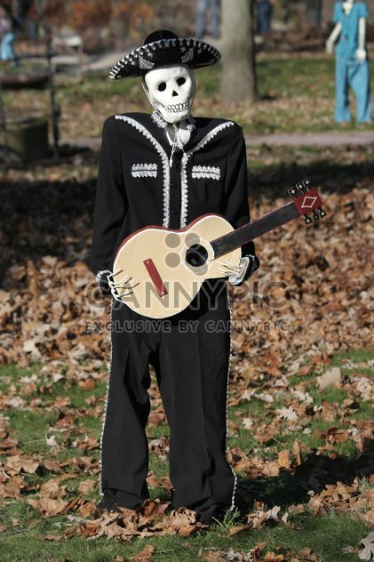 Skeleton Mariachi on halloween 2014 - Free image #187835