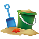 cubo de playa - icon #189285 gratis