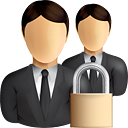 Business Users Lock - icon gratuit #190845