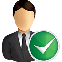 Business User Accept - icon gratuit #191005