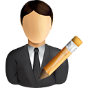 Business User Edit - Free icon #191015