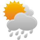 Sun Clouds Rain - icon gratuit #191975