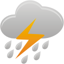 Clouds Thunder Rain - icon gratuit #192035