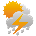 Sun Clouds Thunder Rain - Free icon #192045