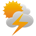 Sun Clouds Thunder - Free icon #192055
