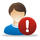 Male User Warning - icon gratuit #193295