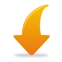 Orange Arrow Down - icon gratuit #193815