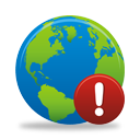 Globe Warning - icon gratuit #194635
