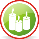 Candles Rounded - icon gratuit #197045