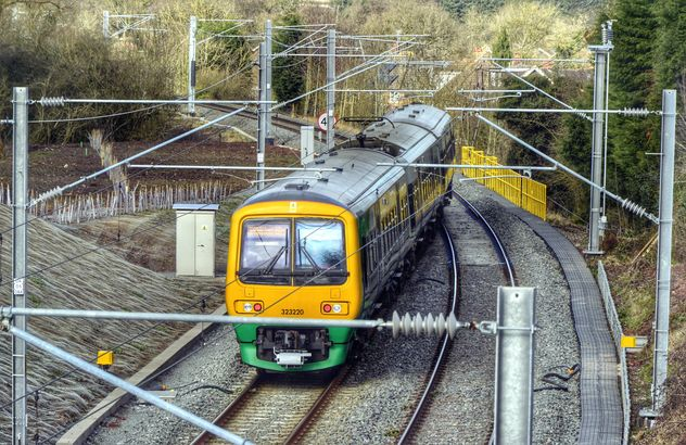 View of train on railway - Free image #198325