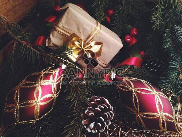 Two beautiful red Christmas decorations - Free image #198805