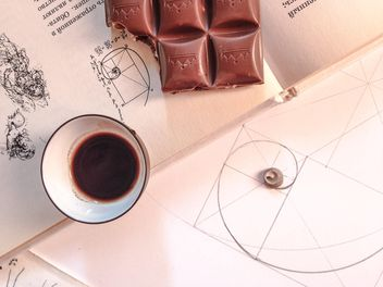 cup of coffee with chocolate - image #198915 gratis