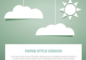 Sky Clouds Paper Cut Style Vectors - Free vector #199105