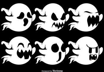 Various Ghost faces - vector #199125 gratis